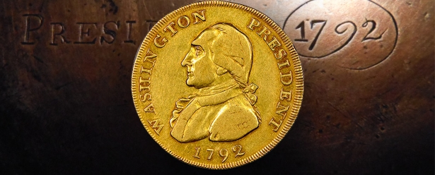 """George Washington"" Gold Coin for $1,7 million"