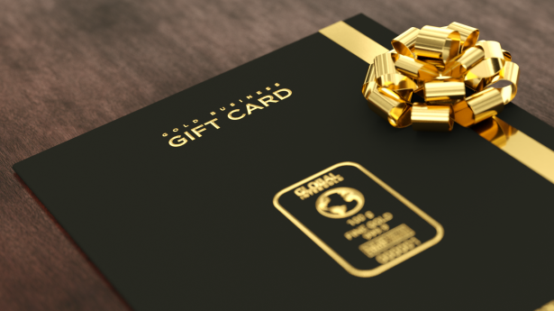 A luxurious gift to fulfill everyone's dreams: Gold Business Gift Cards!