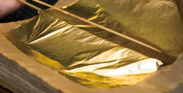 La foglia d'oro giapponese è la più sottile del mondo