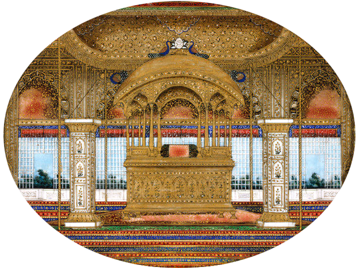 The Golden Throne of the Great Mughals