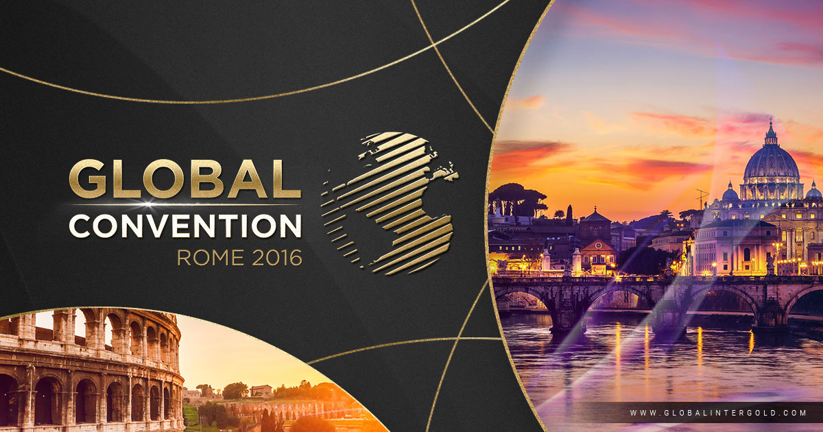 Rome, from 7th – 8th October: the global conference on high income and business with Global InterGold