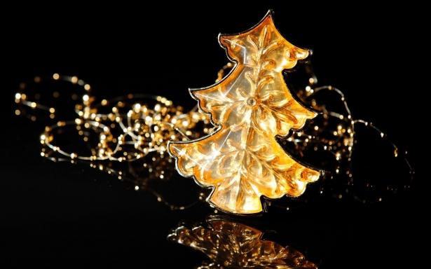 Los árboles de Navidad de oro de la joyería Ginza Tanaka