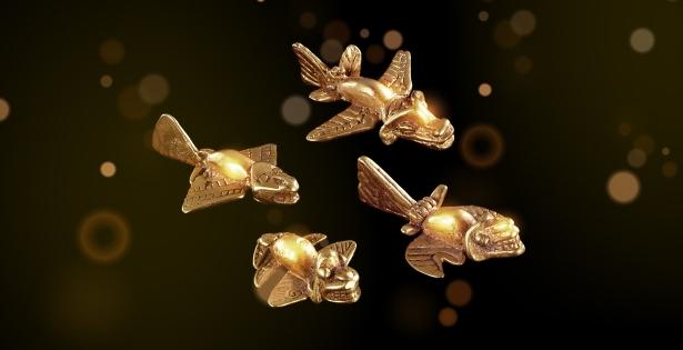 «Aviones» de oro de los indios