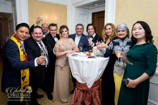 Successful businessmen celebrated Christmas and New Year in St Petersburg