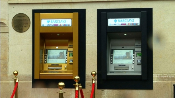 50th Anniversary: The World's First ATM Turns Gold!