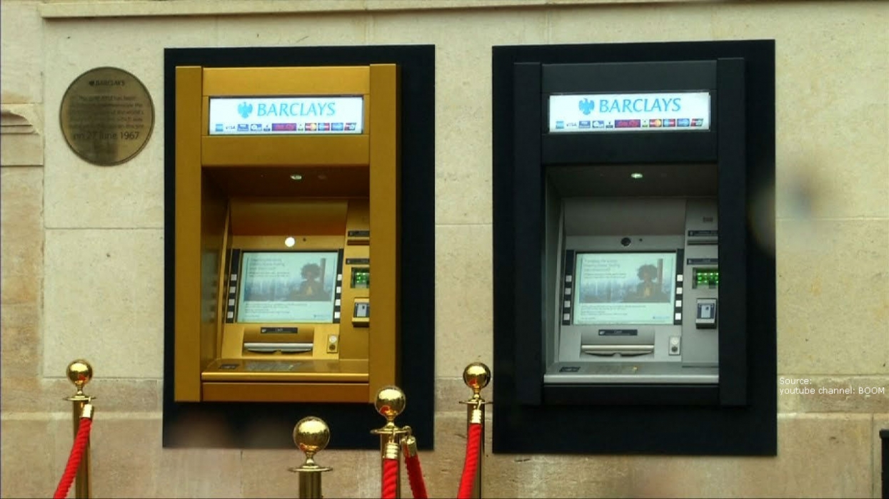 50th Anniversary: The Worlds First ATM Turns Gold!