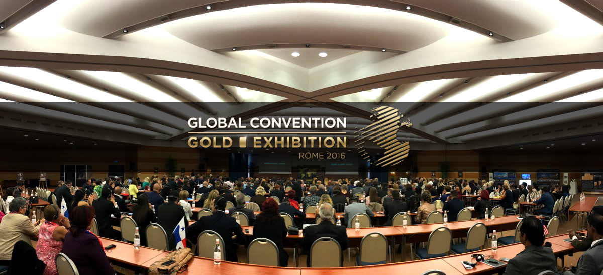 Convención Global & Exhibición de Oro 2016 en Roma – la mayor conferencia sobre ingresos altos con el oro acaba de finalizar.
