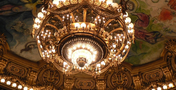 The golden chandelier of the Bolshoi Theater